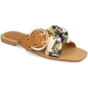 Schoenen Dames Leren slippers Buonarotti 1HA-1139 Verde