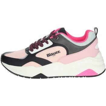 Schoenen Dames Lage sneakers Blauer TAYLOR01 Black/ Pink