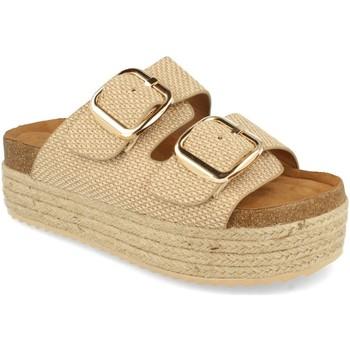 Schoenen Dames Leren slippers Buonarotti 1BD-1179 Beige