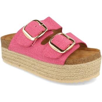 Schoenen Dames Leren slippers Buonarotti 1BD-1179 Fucsia
