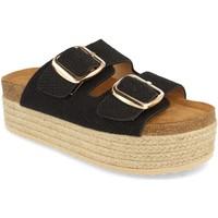 Schoenen Dames Leren slippers Buonarotti 1BD-1179 Negro