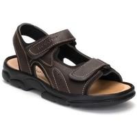 Schoenen Heren Sandalen / Open schoenen Morxiva Shoes Sandalias XL de hombre de piel by Morxiva Marron