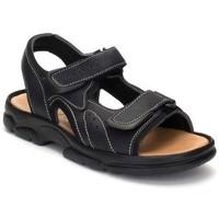 Schoenen Heren Sandalen / Open schoenen Morxiva Shoes Sandalias XL de hombre de piel by Morxiva Noir