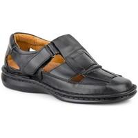 Schoenen Heren Sandalen / Open schoenen Cactus Calzados Sandalia de hombre de piel by Cactus (47 - 49) Noir