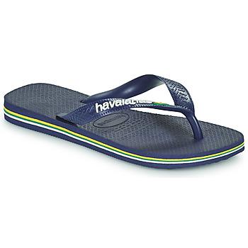Schoenen Kinderen Slippers Havaianas BRASIL LOGO Marine