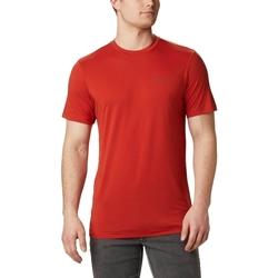 Textiel Heren T-shirts korte mouwen Columbia Maxtrail Logo Rood
