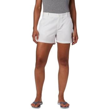 Textiel Dames Korte broeken / Bermuda's Columbia Bonehead Stretch Wit