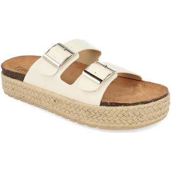 Schoenen Dames Leren slippers Benini 21301 Blanco