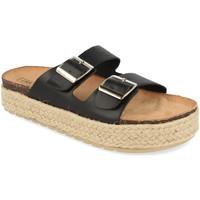 Schoenen Dames Leren slippers Benini 21301 Negro