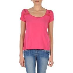 Textiel Dames T-shirts korte mouwen DDP NOWI Roze