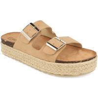 Schoenen Dames Leren slippers Benini 21302 Beige