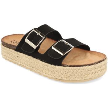 Schoenen Dames Leren slippers Benini 21302 Negro