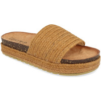 Schoenen Dames Leren slippers Silvian Heach L-19 Camel