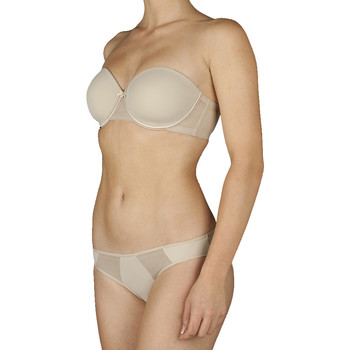 Ondergoed Dames Modern Bralette Selene Soutien-gorge sans bretelles à armatures Silvia Brown
