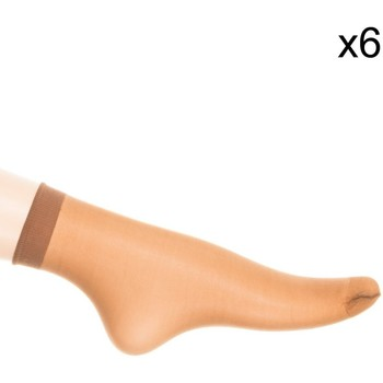 Ondergoed Dames Panty's/Kousen Marie Claire Pack-6 Mini Médias Tob.Trans.15Den Brown