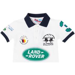 Textiel Jongens Polo's korte mouwen La Martina Polo à manches courtes Wit