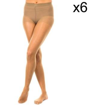 Ondergoed Dames Panty's/Kousen Marie Claire Pack-6 Culotte 15 deniers Brown