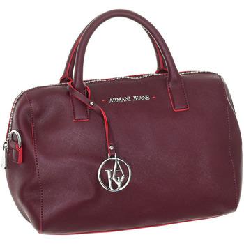 Tassen Dames Handtassen kort hengsel Armani Jeans Bags Sac Armani Jeans Rood