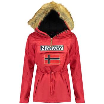 Textiel Dames Parka jassen Geographical Norway Parka femme Rood