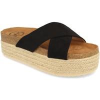 Schoenen Dames Leren slippers Woman Key MT-53 Negro
