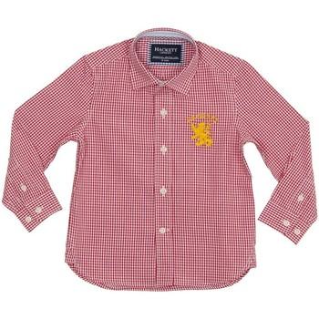 Textiel Jongens Overhemden lange mouwen Hackett T-shirt Hackett Rood