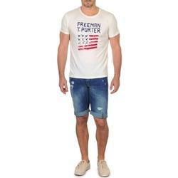 Textiel Heren Korte broeken / Bermuda's Freeman T.Porter DADECI SHORT DENIM Blauw