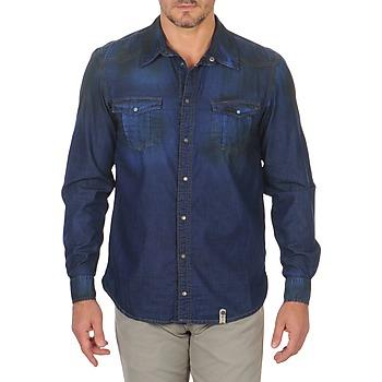 Textiel Heren Overhemden lange mouwen Freeman T.Porter CORWEND DENIM Blauw