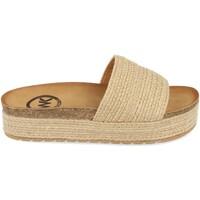 Schoenen Dames Leren slippers Woman Key CZ-10096 Beige