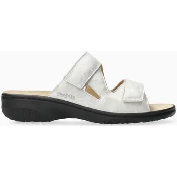 Schoenen Dames Leren slippers Mephisto GEVA Wit