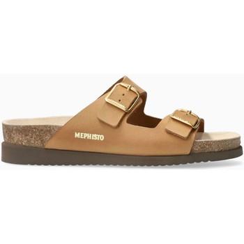 Schoenen Dames Leren slippers Mephisto HARMONY Beige