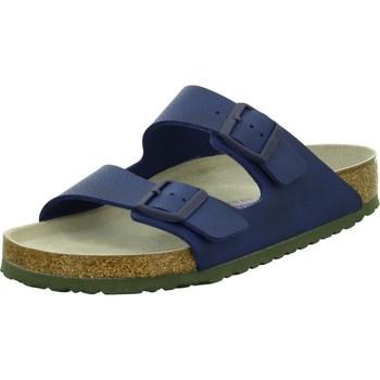 Schoenen Heren Leren slippers Birkenstock Arizona BS Bleu marine