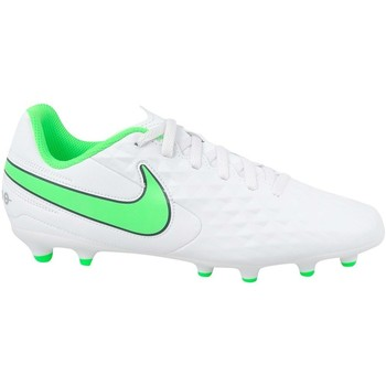 Schoenen Kinderen Voetbal Nike JR Tiempo Legend 8 Club MG Blanc, Vert