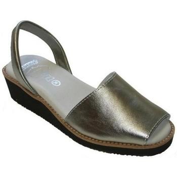 Schoenen Dames Sandalen / Open schoenen Avarca Cayetano Ortuño Avarcas Menorquinas con cuña by C.Ortuño Argenté