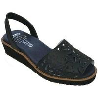 Schoenen Dames Sandalen / Open schoenen Avarca Cayetano Ortuño Avarcas Menorquinas con cuña by C.Ortuño Bleu
