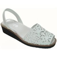 Schoenen Dames Sandalen / Open schoenen Avarca Cayetano Ortuño Avarcas Menorquinas con cuña by C.Ortuño Blanc