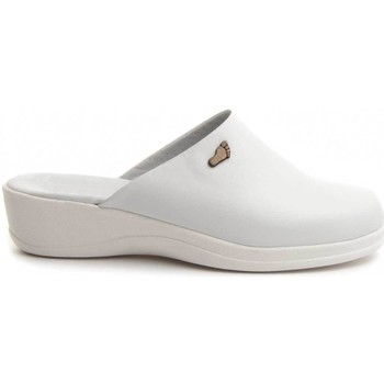 Schoenen Dames Leren slippers Dkel 70461 WHITE