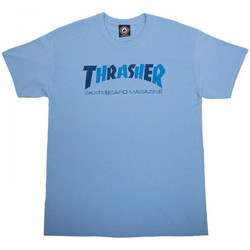 Textiel Heren T-shirts korte mouwen Thrasher T-shirt checkers Blauw