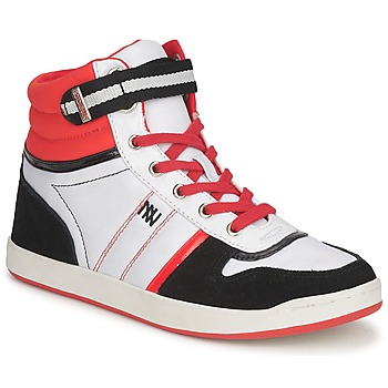 Schoenen Dames Hoge sneakers Dorotennis STREET LACETS Rood / Wit / Zwart