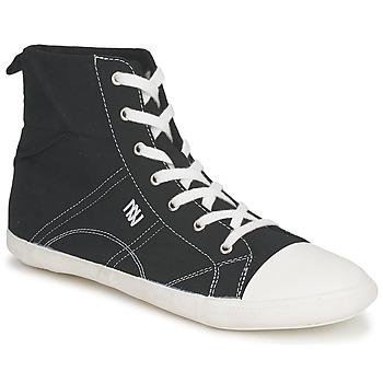 Schoenen Dames Hoge sneakers Dorotennis MONTANTE LACET INSERT Zwart