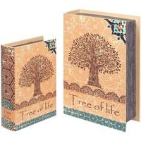 Wonen Manden en dozen Signes Grimalt 2U Tree Life Boekenboxen Naranja