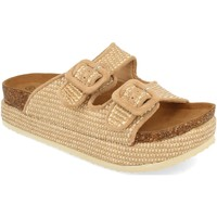 Schoenen Dames Leren slippers Ainy M-185 Taupe