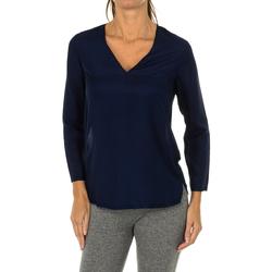 Textiel Dames Tops / Blousjes Armani jeans Blouse à manches longues Blauw