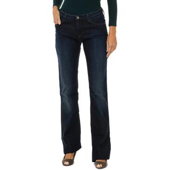 Textiel Dames Broeken / Pantalons Armani jeans Pantalon long Blauw