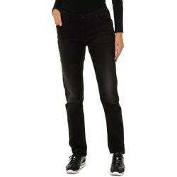 Textiel Dames Broeken / Pantalons Armani jeans Pantalon long Zwart