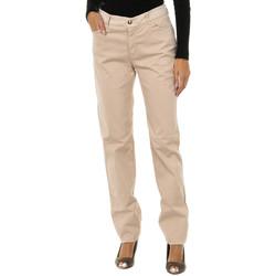 Textiel Dames Straight jeans Armani jeans Pantalon long Beige