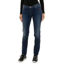 Textiel Dames Straight jeans Armani jeans Pantalon long Blauw