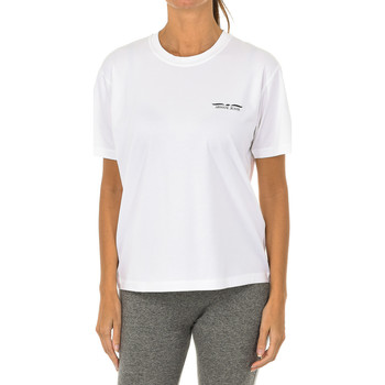 Textiel Dames T-shirts korte mouwen Armani jeans T-shirt à manches courtes Wit