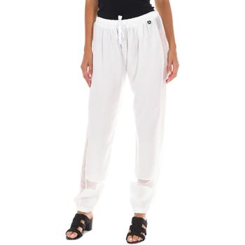 Textiel Dames Broeken / Pantalons Met Pantalon long Wit