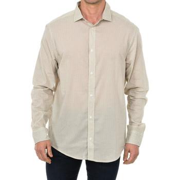Textiel Heren Overhemden lange mouwen Armani jeans Chemise à manches longues Beige