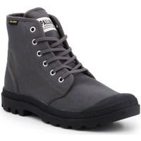 Schoenen Heren Hoge sneakers Palladium Manufacture Pampa HI Originale Noir, Gris